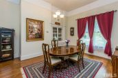 Ballentine-Spence House formal dining room with built-in china cabinet